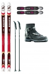ROSSIGNOL BC 90 POSITRACK CROSS COUNTRY SKI PACKAGE